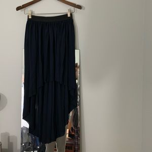 Navy pleaded high low skirt by forever 21 size S